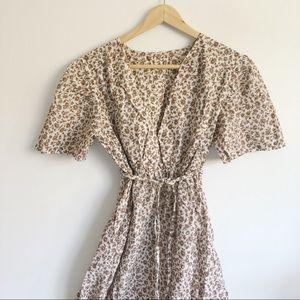 VINTAGE Floral Embroidered Midi Dress | Sm/Medium